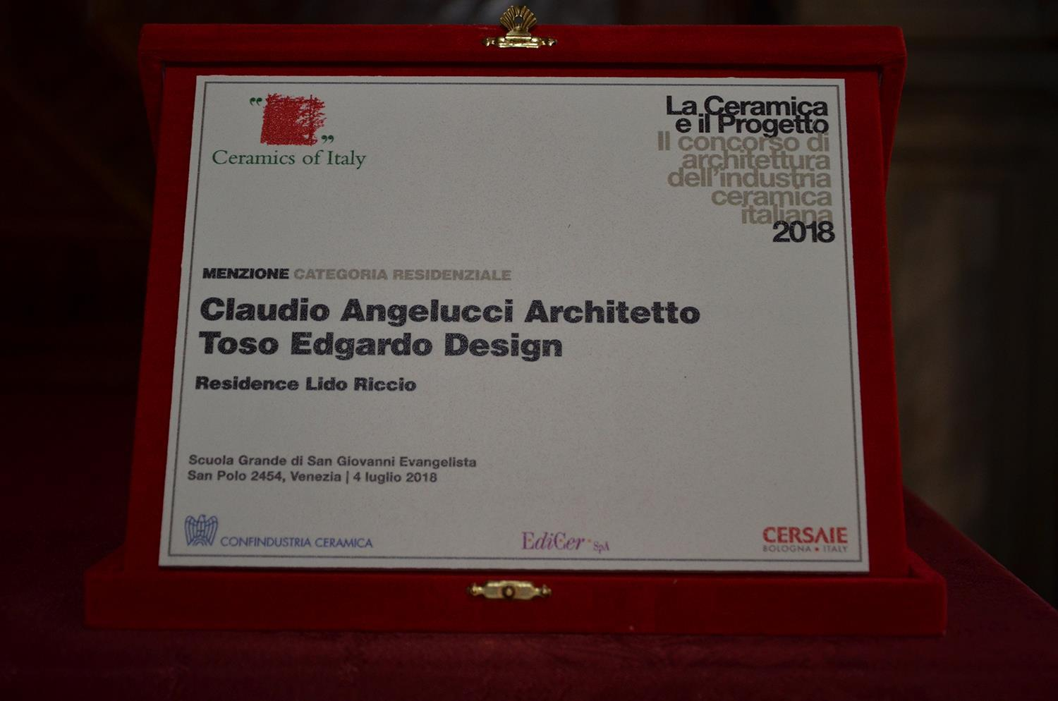 "Cotto d'Este received an Honourable Mention during ""La Ceramica e il Progetto 2018"" show: Photo 3"